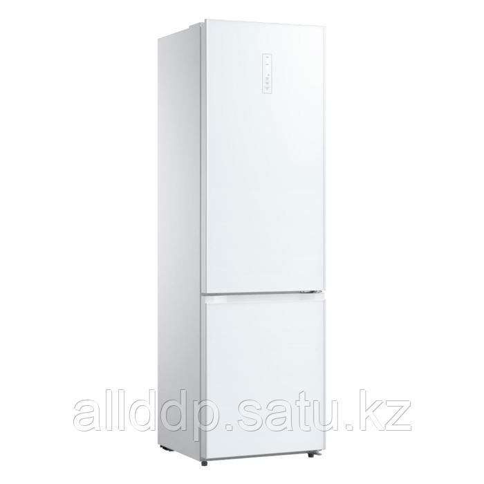 Холодильник Körting KNFC 62017 GW, двухкамерный, класс А++, 321 л, цвет белое стекло