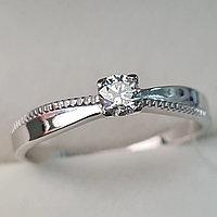 Золотое кольцо с бриллиантами 0.18Ct VS2/H, VG - Cut, фото 1