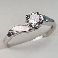 Золотое кольцо с бриллиантами 0.35Сt SI1/L, G - Cut, фото 1