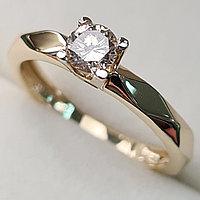 Золотое кольцо с бриллиантами 0.30Сt I1/L, VG - Cut, фото 1