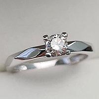 Золотое кольцо с бриллиантами 0.30Сt VS2/L, VG - Cut, фото 1