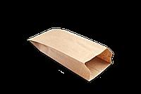 Пакет бумажный с плоским дном 260х90х40мм крафт