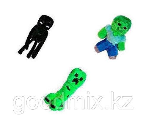 Комплект мягких игрушек Майнкрафт Minecraft (Зомби, Крипер, Эндермен) 21 см