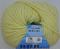 Пряжа для вязания Full (BBB Фулл) Бледно-желтый 9940
