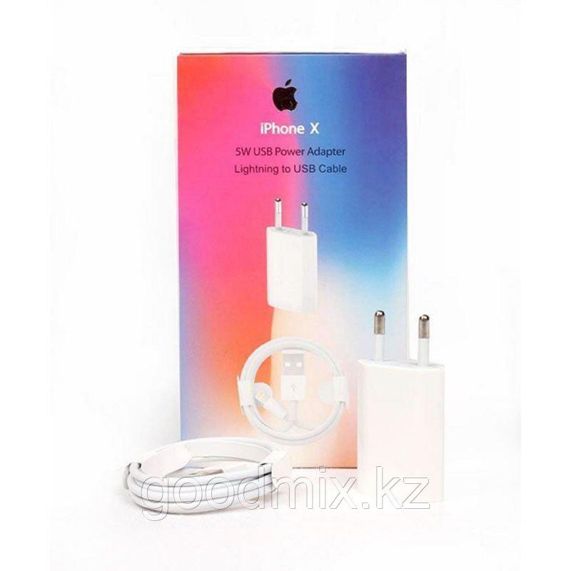 Комплект адаптер 5W + кабель lightning для iPhone
