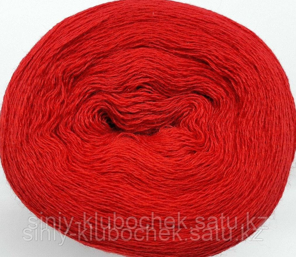 Пряжа для вязания Слонимская полухлопок (в 4 нити) Красный - фото 2