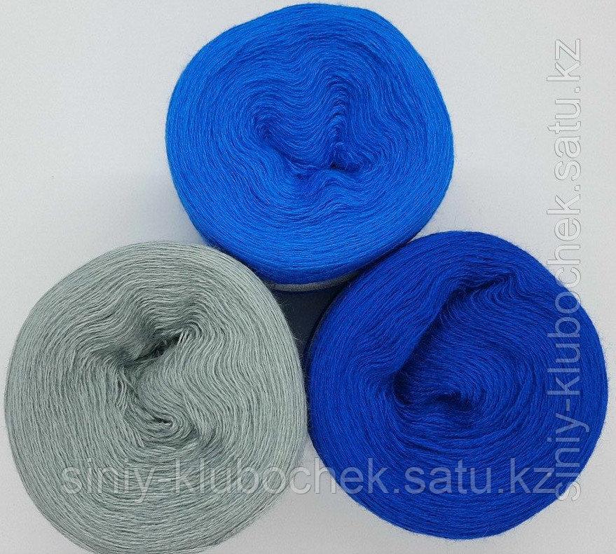 Пряжа для вязания Слонимская Градиент (Уют) Василек-синий иней-перламутровый - фото 2