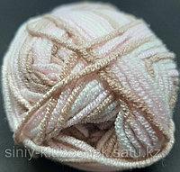 Пряжа для вязания Baby Best Batik (Беби Бест Батик) Какао-розовый-белый 6656
