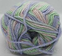 Пряжа для вязания Baby Best Batik (Беби Бест Батик) Мята-сирень-розовый 7258