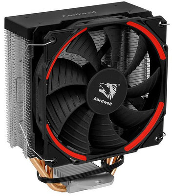 Cooler Aardwolf, for Socket 20xx/1366/1200/115*/775/AMD, PROXIMA 360 RED, 1000-1800rpm, 4pin