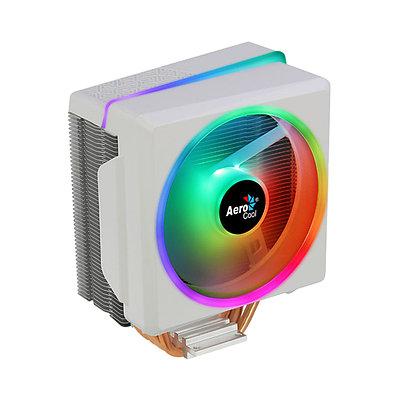 Cooler Aerocool, for Socket 2066/2011/115x/775/AMD, Cylon 4F WH ARGB, 1800rpm, 52.5CFM, 145W, PWM