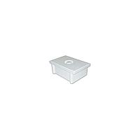 Бак для предварительной стерилизации и дезинфекции, ёмкость 1.2 л, вместимостью 1 л цвет белый