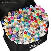 Набор двухсторонних маркеров для скетчинга Mazari VINCI, 120 цветов, трёхгранный корпус