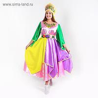 Карнавальный костюм «Весна», платье, кокошник, р. 46-48