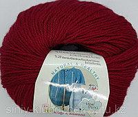 Пряжа для вязания Baby wool (Беби Вул) Вишня 390