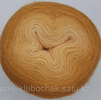 Пряжа для вязания Angora Gold Ombre Batik (Ангора Голд Обре Батик) Шафран 7358