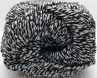 Пряжа для вязания Lanagold Classic (Ланаголд Классик) Черно-белый меланж 601