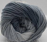 Пряжа для вязания Bella batik (Белла батик) Белый-серый-маренго 2905
