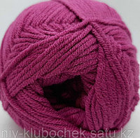Пряжа для вязания Cotton Gold (Коттон Голд) Темная малина 649