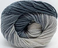 Пряжа для вязания Cotton Gold Batik (Коттон Голд Батик) сурово серый- бежевый 2905