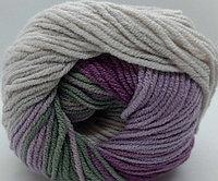 Пряжа для вязания Cotton Gold Batik (Коттон Голд Батик) серый-сирень 4149