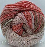 Пряжа для вязания Cotton Gold Batik (Коттон Голд Батик) бежевый-коралл 5970