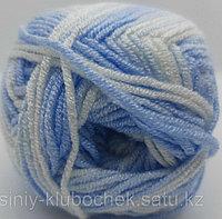 Пряжа для вязания Baby Best Batik (Беби Бест Батик) Голубой меланж 6669
