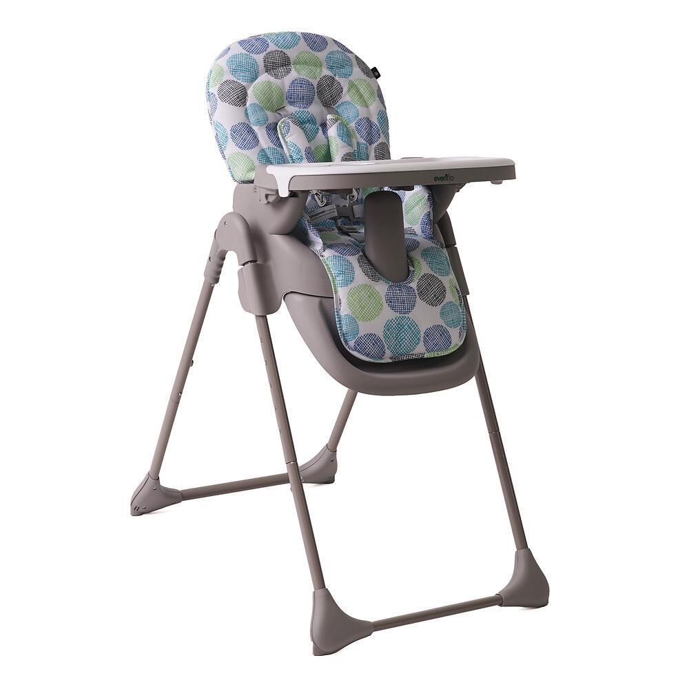 Детский стульчик Evenflo Fava в трех цветах: зеленый, коралловый, коричневый* (на фото в карусели)
