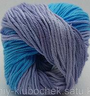 Пряжа для вязания Bella batik (Белла батик) Бирюза-астра-сирень 3677