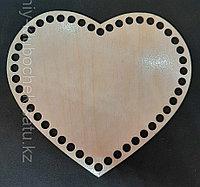 Деревянное донышко сердце