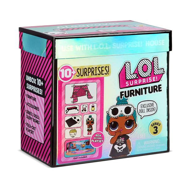 LOL Surprise Игровой набор ЛОЛ Фурнитура 3 серия Хэллоуин с куклой Sleepy Bones (10 сюрпризов)