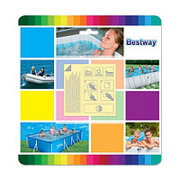Bestway Ремонтный набор Underwater Adhesive 6.5 х 6.5 см х 10шт., BESTWAY, 62091, Винил, Водостойкий, Прозра