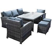 Столы и стулья. Комплект Терра бежево коричневый
