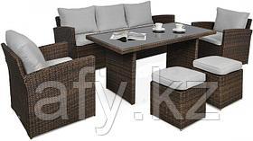 Столы и стулья. Комплект Терра коричневый