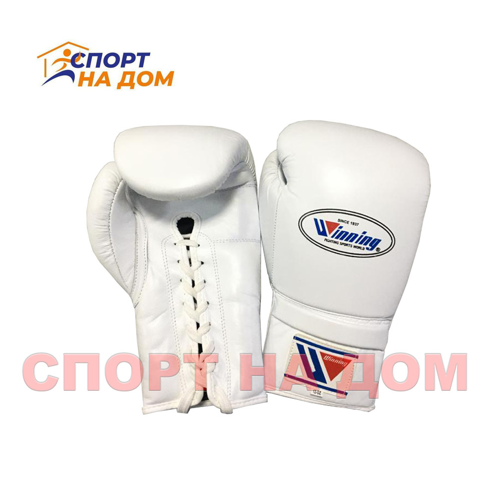 Бокс перчатки Winning (белые) 16 OZ