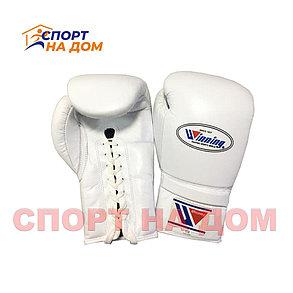 Бокс перчатки Winning (белые) 16 OZ, фото 2