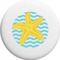 """Диск летающий Фрисби Aerocker One, цвет белый, дизайн """"Морская звезда"""""""