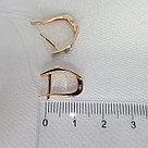Кольцо AQUAMARIN серебро с позолотой, бриллиант 040138.6 размеры - 17, фото 3