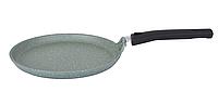Сковорода блинная 24 см, фисташковый мрамор (Кукмара, Россия)