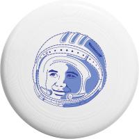 """Диск летающий Фрисби Aerocker One, цвет белый, дизайн """"Космонавт"""""""