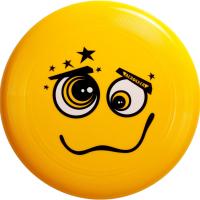 """Диск летающий Фрисби Aerocker One, цвет жёлтый, дизайн """"Смайл"""""""