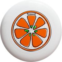 """Диск летающий Фрисби Aerocker One, цвет белый, дизайн """"Апельсин"""""""