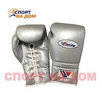 Бокс перчатки Winning (серые) 16 OZ
