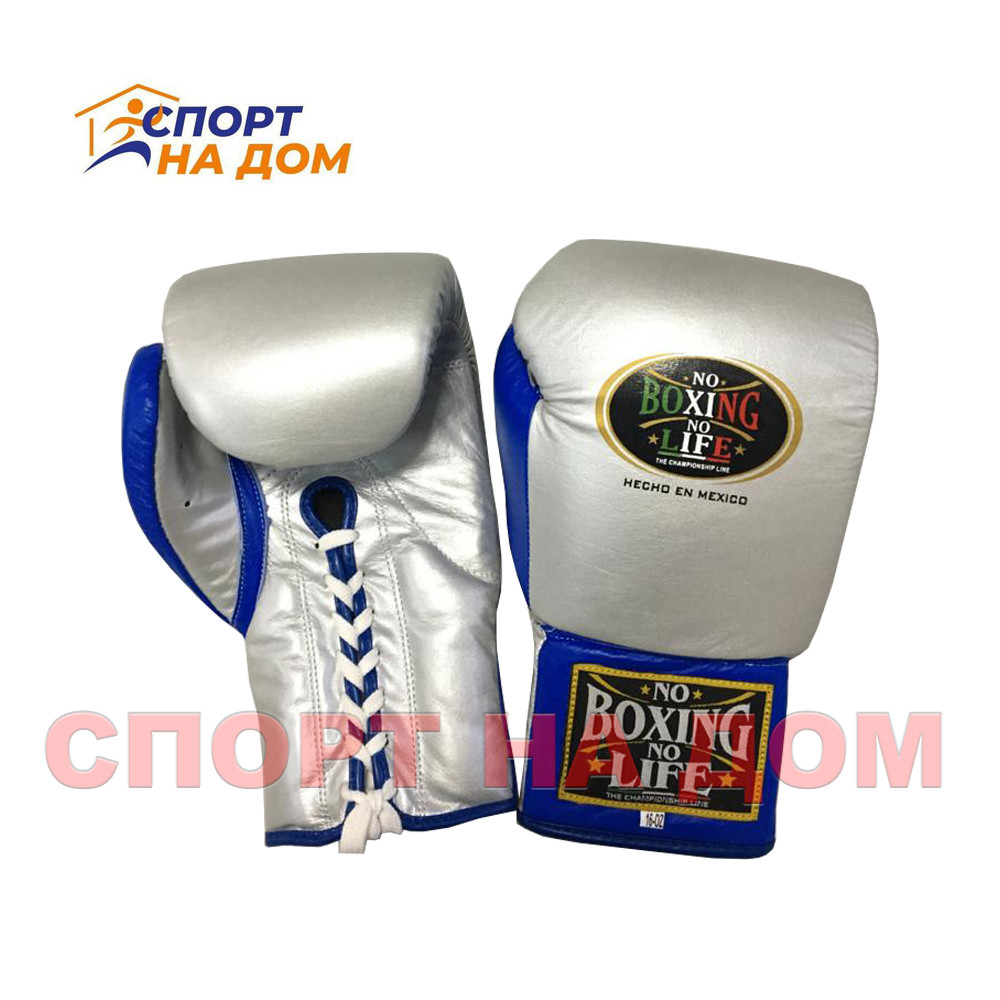 """Кожаные боксерские перчатки """"No Boxing No Life"""" 14 OZ"""