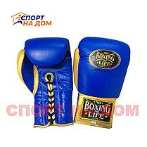 """Кожаные боксерские перчатки """"No Boxing No Life"""" 14 OZ, фото 3"""