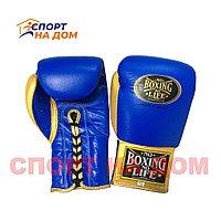 """Кожаные боксерские перчатки """"No Boxing No Life"""" 16 OZ"""