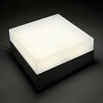 Накладной светодиодный светильник Luazon, квадратный, 120х120х55 мм, 12 Вт, 1100 Лм, 6500 К