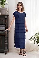 Женское летнее синее платье Fantazia Mod 3425 синий 52р.