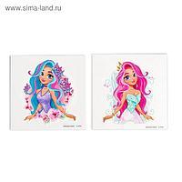 Татуировки-переводки детские «Милые принцессы» набор 2 шт.