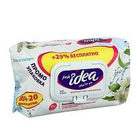 """Влажные салфетки Fresh Idea """"Зелёный чай с жасмином"""", освежающие, 80+20 шт. 1120044"""